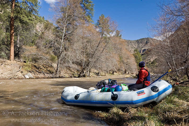 Rafting the Gila Wilderness, New Mexico, March 2010.