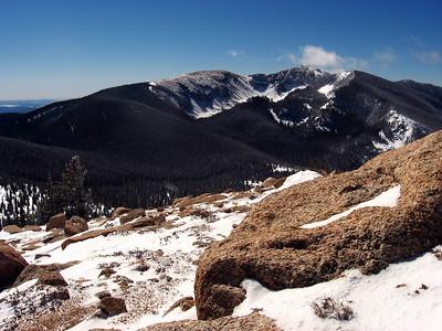 Lake Peak in winter, Pecos Wilderness, New Mexico, February 2007.