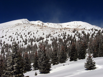 Santa Fe Baldy, Pecos Wilderness, New Mexico, February 2007.