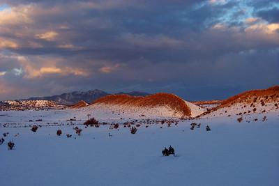 Dawn on the high plains, Galisteo Basin, New Mexico, January 2007.