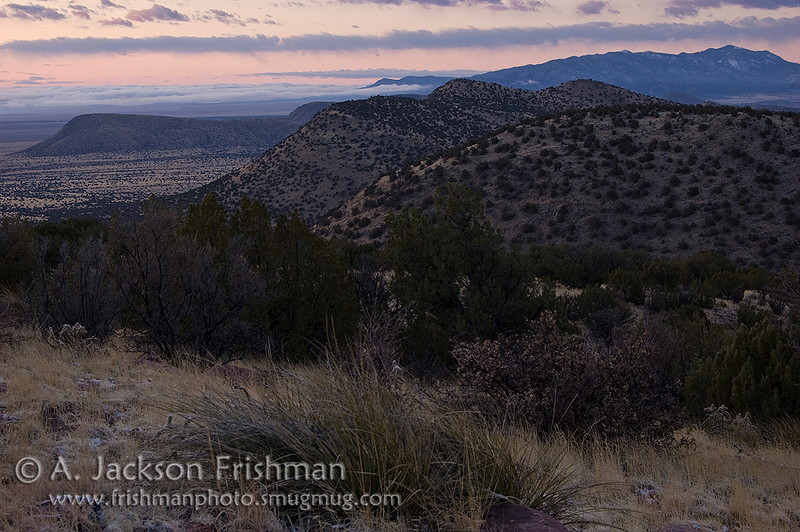 Dawn in the Bear Springs Range, Socorro County, New Mexico, March 2009.