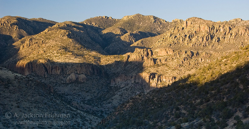 Sunset on the Indian Creek basin in New Mexico's Apache Kid Wilderness, March 2010.