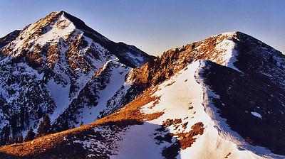 Sunrise on Sheepshead Peak in New Mexico's Pecos Wilderness, October 2006.