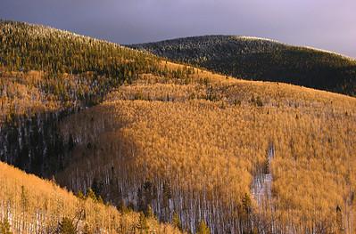 Evening light on New Mexico's Sangre de Cristo Mountains, February 2007.