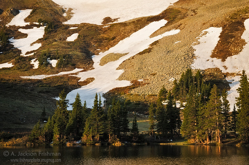 Morning at Horseshoe Lake, Pecos Wilderness, New Mexico, June 2012.