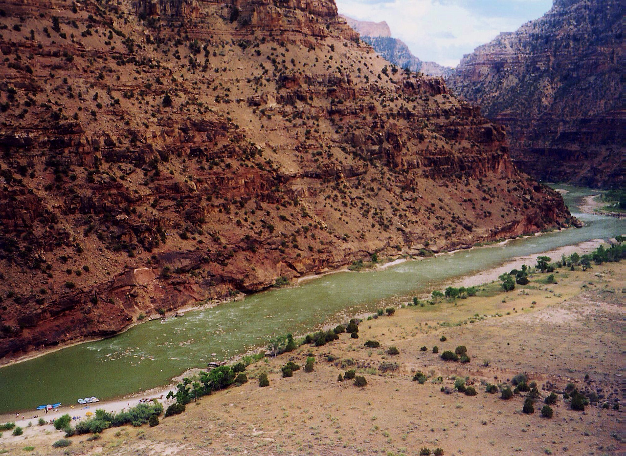 Desolation Canyon, Utah's Green River, July 2002.