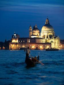 Gondola Ride at Dusk, Venice