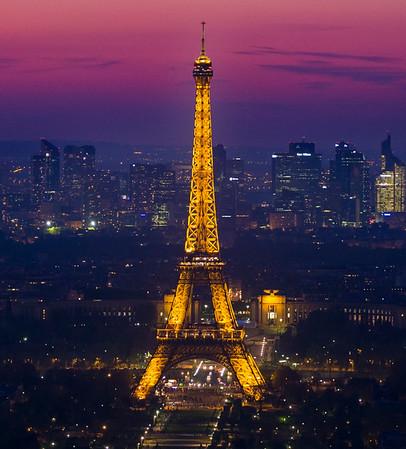 Eifell Tower At Night