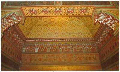 013_Maroc_Plafond_en_bois_de_cedre_polychrome_et_sculpte