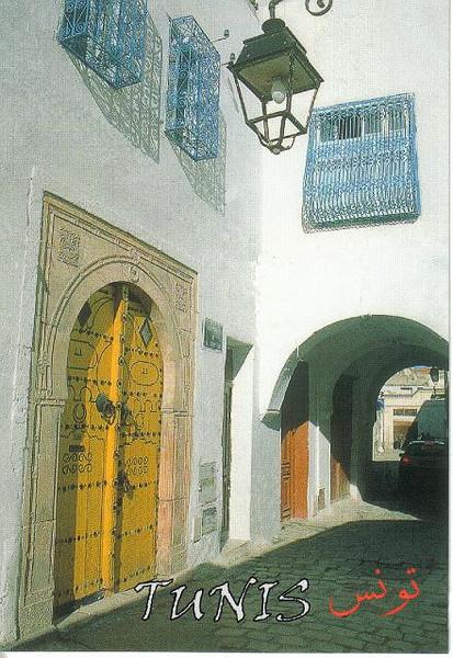 022_Tunis_Porte_d_entree_cloutee_et_Fenetres