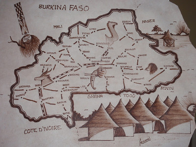 004_Burkina Faso Map  A Landlocked Country  Population 15 Million