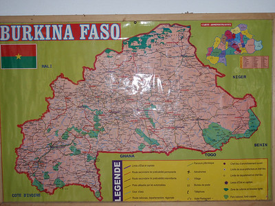 005_Burkina Faso Map  Adhere to Ancient Animist Beliefs