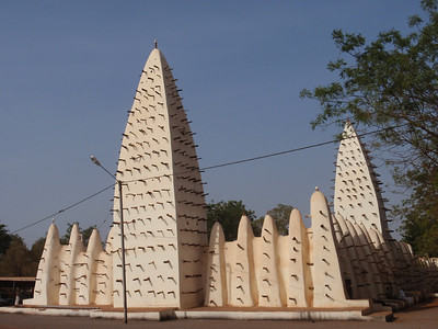 008_Grande Mosquee  Sahel-Style Mud Architecture  Conical Towers