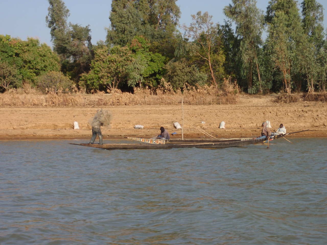 358_Niger River  Fisherman Reaping the Bounty of this Lifeblood