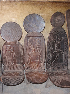 309_Mopti  Decorated Carved Benches  Their Vision of the World