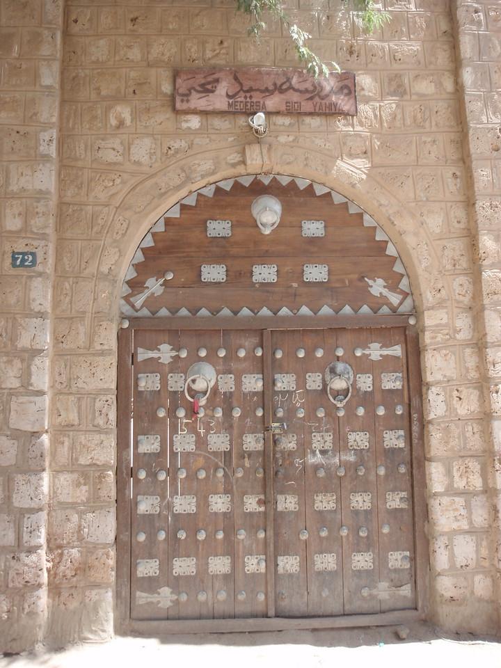 096_Timbuktu  Medersa Sidi Yahiya  Elaborate Doors