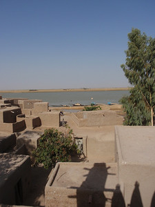 383_Niger River  Fulani Fishing Village  Rooftop Village Overview