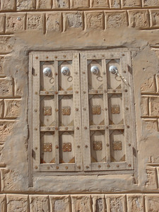097_Timbuktu  Elaborate Window with Metal Objects