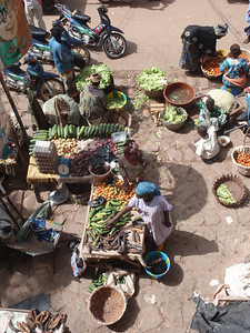 297_Mopti  The Vast Public Market  Vegetables for Sale