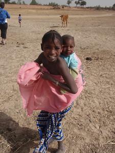 239_Mopti  The Fulani Tribe  Big Sister and Baby in Perfect Balance