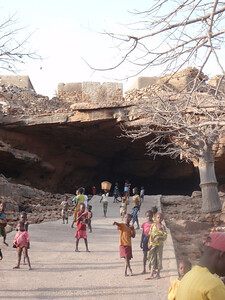 522_Dogon Country  Bongo Village  Enormous Natural Cave Tunnel