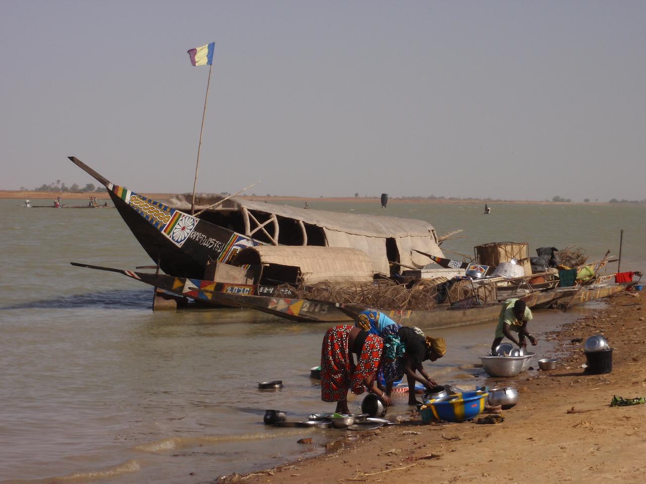 361_A Fishing Village  Fulani People  Women Washing Clothes