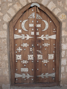 095_Sidi Yahiya Mosque  Doors Decorated with Metal Objects