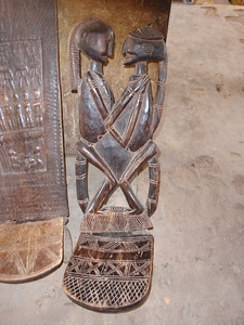 308_Mopti  Decorated Carved Bench  Their Vision of the World