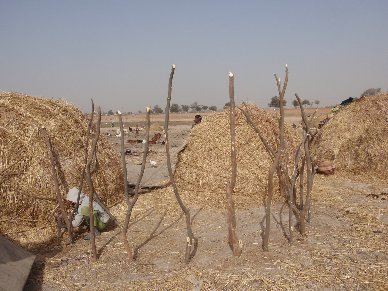 246_Mopti  The Fulani Tribe  Setting-Up The Hut  Part 3