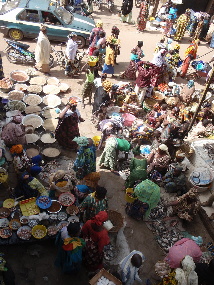 296_Mopti  The Vast Public Market  Bustling and Colourful