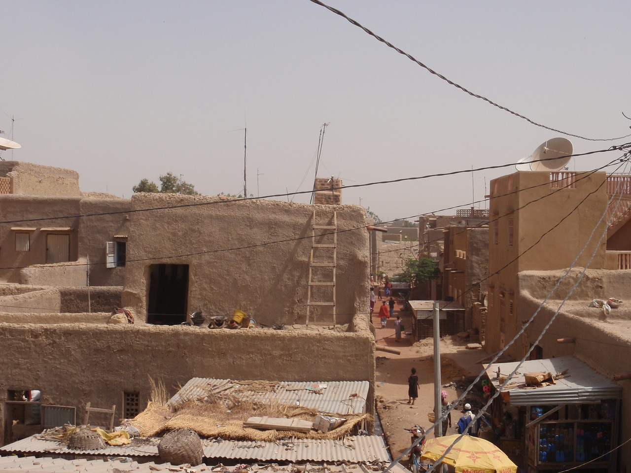 283_Mopti  The Colourful Old Town  Rooftop City Overview