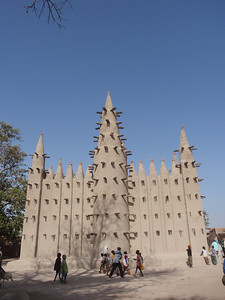 380_A Fishing Village  Fulani People  Mosque Exterior  Back View
