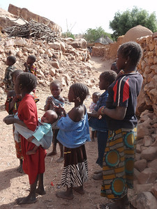 437_Dogon Country  Songo Village  Big Sister and Bbaby