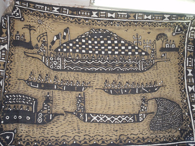 198_Djenne Old Town  Bogolan Carpet  Mud-Cloth  Womam Cooperative