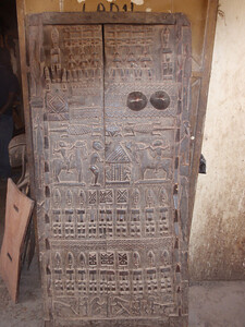 307_Mopti  Decorated Carved Door  Their Vision of the World