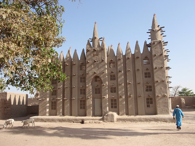 373_A Fishing Village  Fulani People  Mosque Exterior  Front View