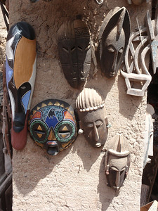 213_Djenne Old Town  The Craft Centre  The Powerful Dogon Masks