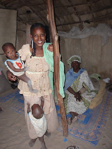 112_Timbuktu  Shelter for Family Relaxation  Mother and Children
