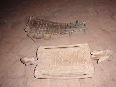 350_Mopti  Arts and Crafts   Musical Instrument and Stool