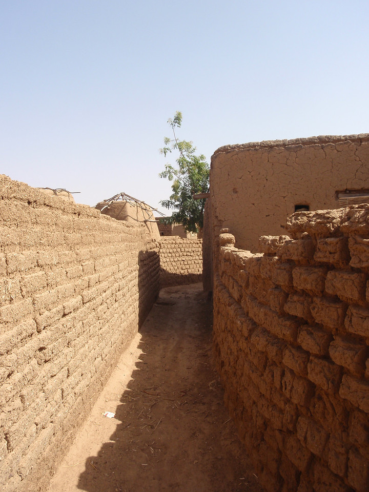 224_Parandougou   A Bobo Tribe Village  Narrow Mudbricks Alley
