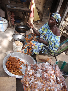 301_Mopti  The Vast Public Market  Small Balls of Pastry