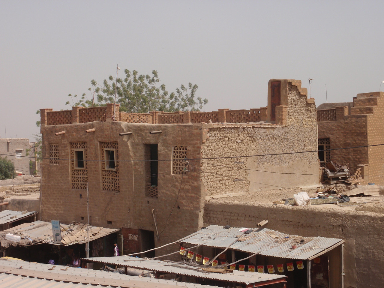 284_Mopti  The Colourful Old Town  Rooftop City Overview