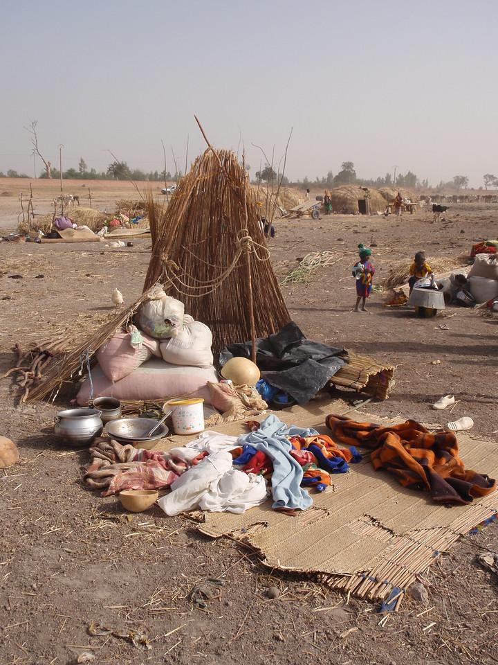 244_Mopti  The Fulani Tribe  Setting-Up The Hut  Part 1