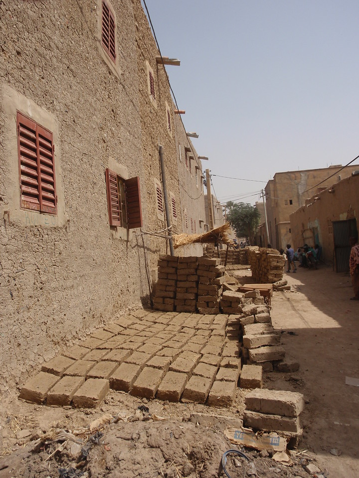 289_Mopti  The Colourful Old Town  Mudbricks Drying under the Sun