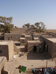381_Niger River  Fulani Fishing Village  Rooftop Village Overview