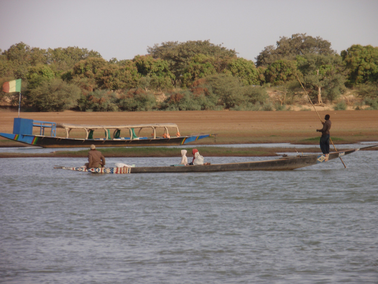 144_Djenne  Pirogue on the Bani River