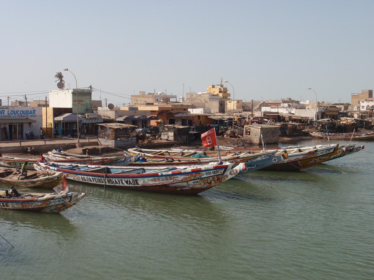 102_Saint Louis  The Senegal River  Fishermen Boats