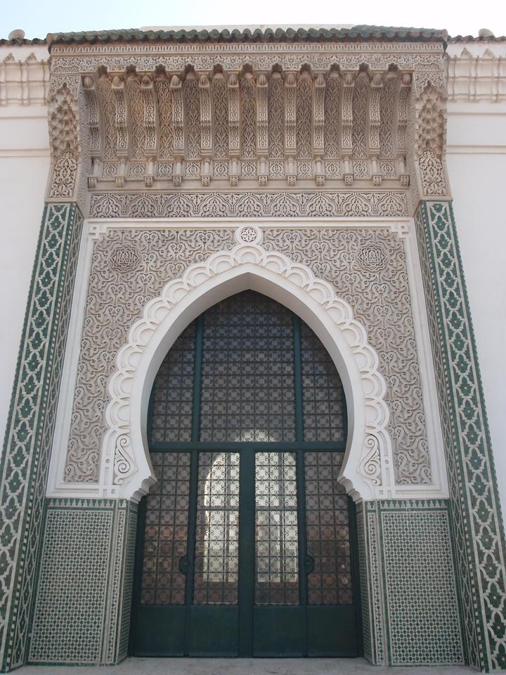 036_Dakar  The Big Mosque  Sophisticated Stuc Ornamanetation
