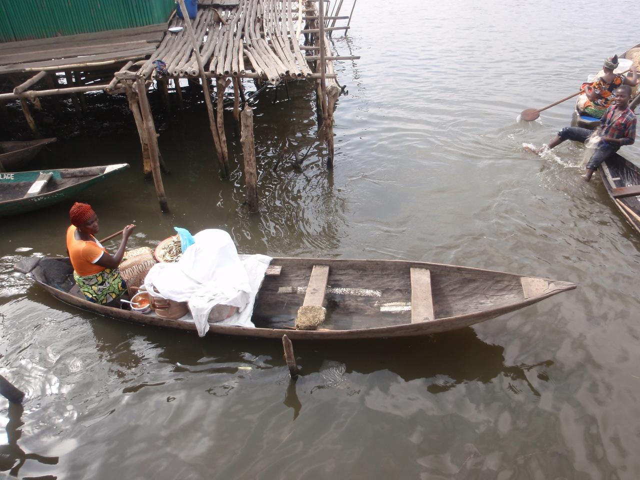 111_Ganvie Lake Community  Lake Nokoue  Small Floating Markets