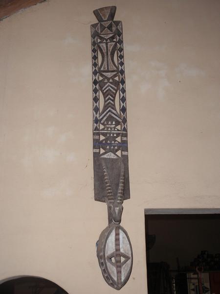 156_Cotonou  The Craft Market  Woodcarvings  Mask